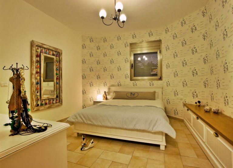 עיצוב חדר שינה בבית פרטי בשרון | מעצבת פנים בשרון - רחלי יעיש