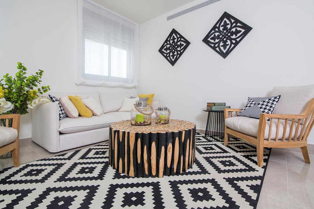 הום סטיילינג ועיצוב לסלון הבית (עיצוב פנים: רחלי יעיש)
