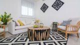 עיצוב דירת קבלן, עיצוב סלון בדירה לדוגמא - רחלי יעיש