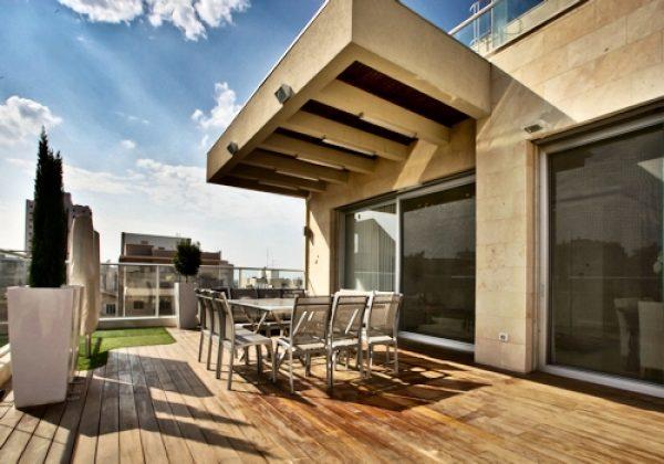 עיצוב יוקרתי למרפסות פנטהאוז