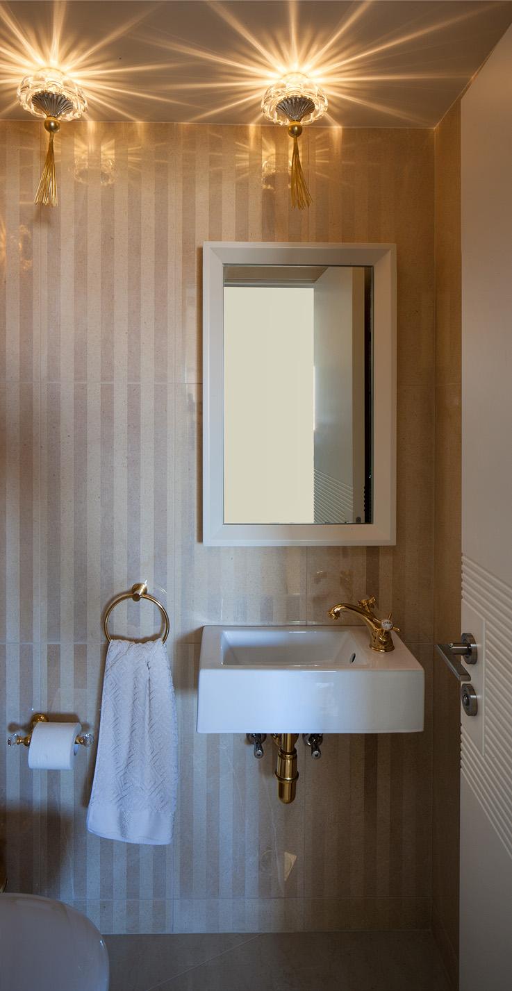 עיצוב חדר רחצה בדירת פנטהאוז - רחלי יעיש מעצבת פנים