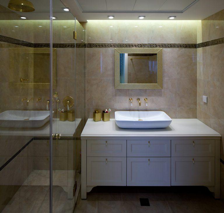 עיצוב חדר אמבטיה דירת פנטהאוז - רחלי יעיש מעצבת פנים