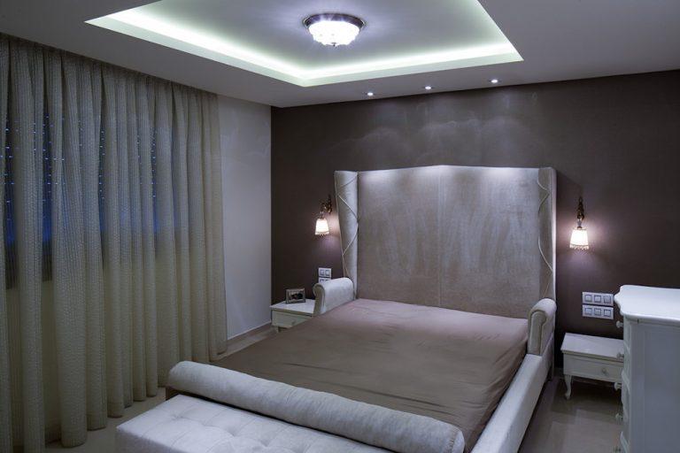 עיצוב חדר שינה בדירת פנטהאוז - רחלי יעיש מעצבת פנים