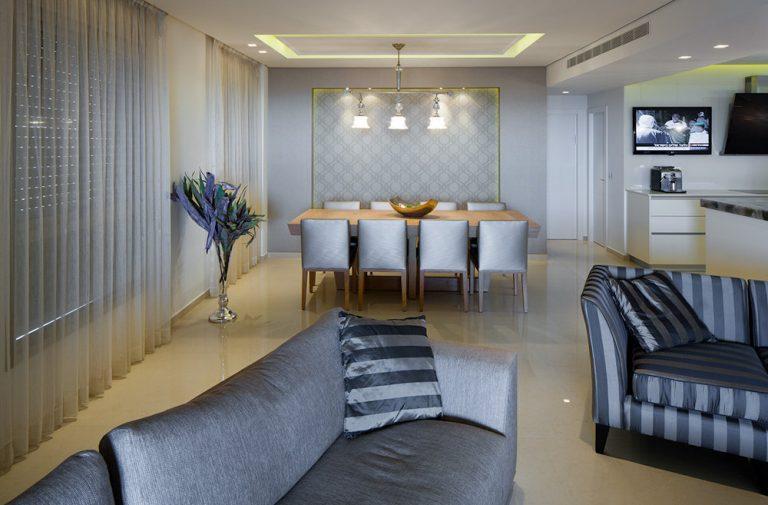 עיצוב סלון דירת פנטהאוז - רחלי יעיש מעצבת פנים
