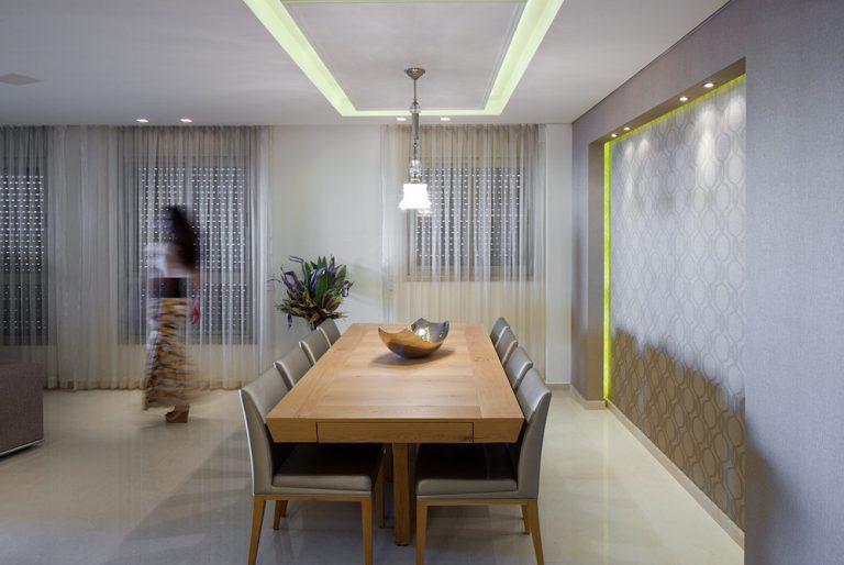 עיצוב פינת אוכל בדירת פנטהאוז - רחלי יעיש מעצבת פנים