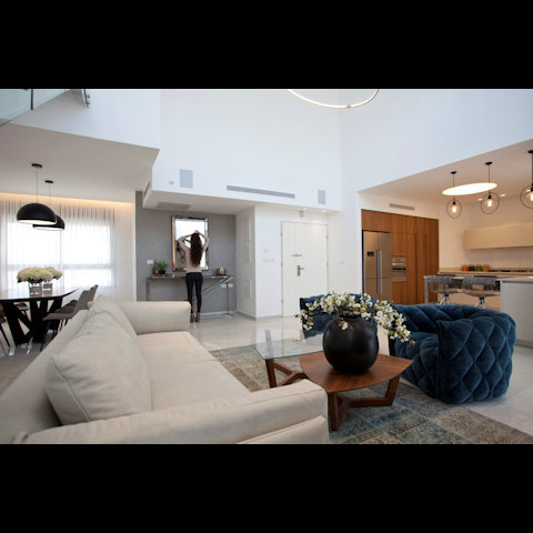 עיצוב דירת פנטהאוז דו קומתית - רחלי יעיש