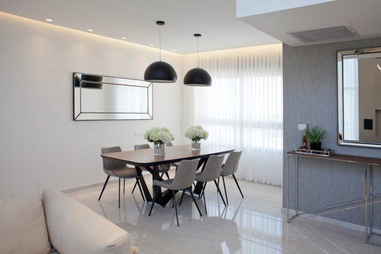 עיצוב פינת אוכל בדירת יוקרה - רחלי יעיש